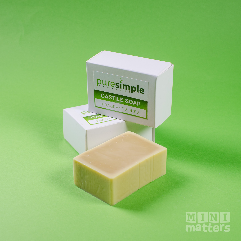 pure simple castile soap bar fragrance free mini matters. Black Bedroom Furniture Sets. Home Design Ideas